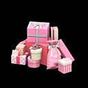 プレゼントのやまピンク白