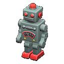 ブリキのロボットグレー赤