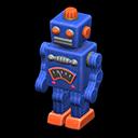 ブリキのロボット青オレンジ