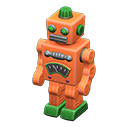 ブリキのロボットオレンジ緑