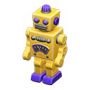 ブリキのロボット黄紫