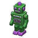 ブリキのロボット緑紫