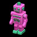 ブリキのロボットピンク緑