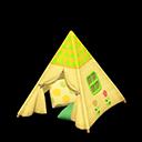 キッズテント黄緑
