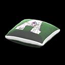 クッション白緑
