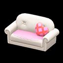 キュートなソファ白ピンク