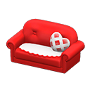 キュートなソファ赤白