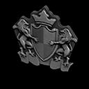 エンブレムなドアプレートグレー黒