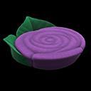 バラのベッド紫緑