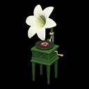 ユリのレコードプレーヤー白緑