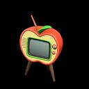 リンゴのテレビ赤黄