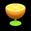 オレンジのサイドテーブルオレンジ緑