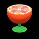 オレンジのサイドテーブル赤緑