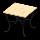 ナチュラルなスクエアテーブルベージュ黒