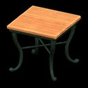 ナチュラルなスクエアテーブルオレンジ緑