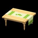 サンクスギビングなテーブルベージュ緑