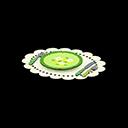 サンクスギビングテーブルウェア緑白