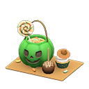 ハロウィンなおかしプレート緑茶
