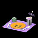 ハロウィンテーブルセッティング紫オレンジ