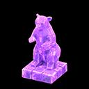 こおりのアート紫紫