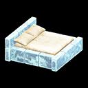 こおりのベッド水白