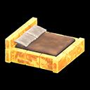 こおりのベッド黄茶
