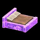 こおりのベッド紫茶