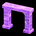 こおりのアーチ紫紫