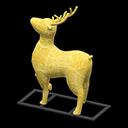 トナカイのイルミネーション黄黄