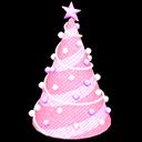 ツリーのイルミネーションピンクピンク