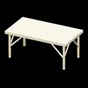 アイアンワークテーブル白白
