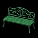 アイアンガーデンベンチ緑緑