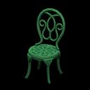 アイアンガーデンチェア緑緑
