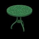 アイアンガーデンテーブル緑緑