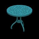 アイアンガーデンテーブル青青