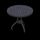 アイアンガーデンテーブル黒黒