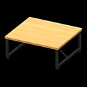 アイアンウッドテーブルベージュ黒