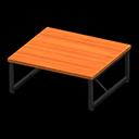 アイアンウッドテーブルオレンジ黒