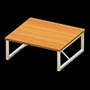 アイアンウッドテーブルオレンジ白
