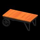 アイアンウッドローテーブルオレンジ黒