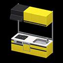 システムキッチン黄黒