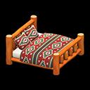 まるたのベッドオレンジカラフル