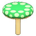 キノコちけいL緑ベージュ