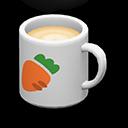 マグカップ白オレンジ