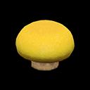 キノコのスツール黄ベージュ