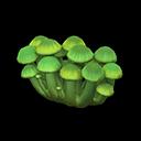 キノコのスクリーン緑緑