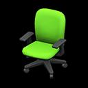 オフィスのチェア緑黒