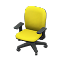 オフィスのチェア黄黒