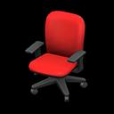 オフィスのチェア赤黒