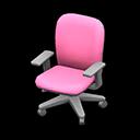 オフィスのチェアピンクグレー